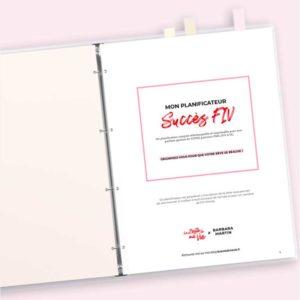 Le planificateur imprimable Succès FIV  Exemplaire